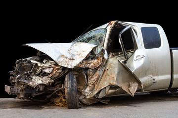 Car accident demolished