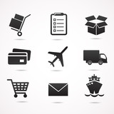 Delivery vector icon set. - 80499846