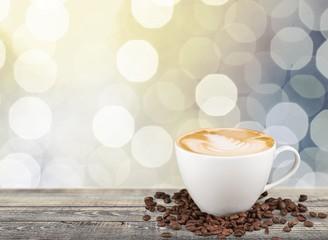 Coffee. Flat white coffee