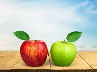 Apple. Red & Green Apples