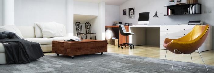 Modern Apartment Decor (panoramic)