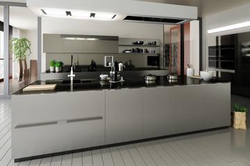Stainless steel designed kitchen