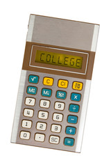 Old calculator - college