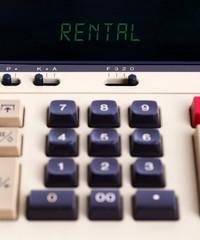 Old calculator - rent