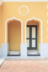 The doors of european style building