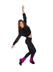 girl shows a dance movement