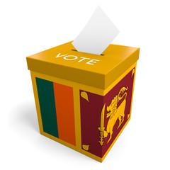 Sri Lanka election ballot box for collecting votes