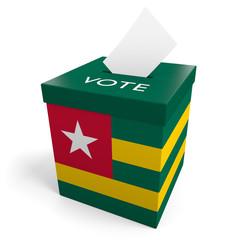 Togo election ballot box for collecting votes