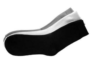 Three pair of socks