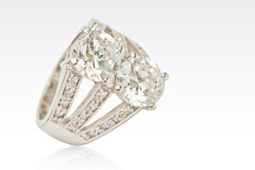 Diamond ring isolated on white