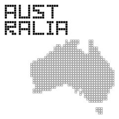 オーストラリアのドット地図(フレーム)
