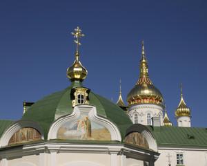 Domes and crosses pravoslanoy church in Ukraine