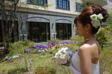 Tender greenery and bride