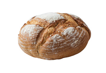 Loaf of wheat bread  isolated