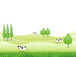 牧場 牛 背景