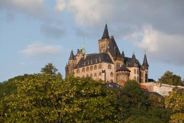 bunte Stadt am Harz Wernigerode Schlossblick