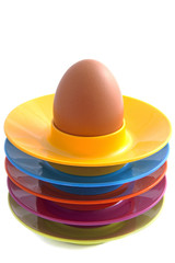 Colorful egg plates