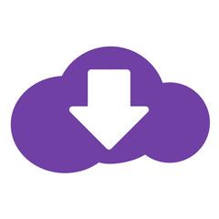 Icono bajar en nube