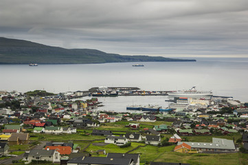 Thorshaven in the Faroe Islands