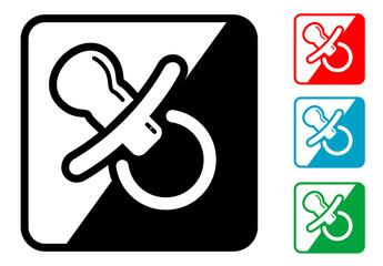 Icono simbolo chupete en varios colores