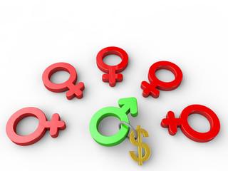 Wealth attracts women