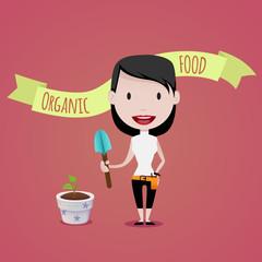 woman & Gardening