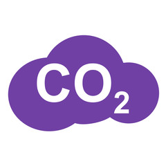 Icono texto CO2 en nube