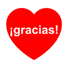 Icono texto ¡gracias! en corazon