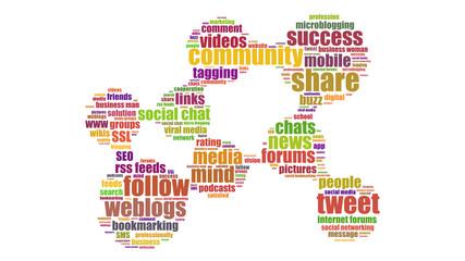 ct6 CloudText - Netzwerk Cloud - social media community - g3448