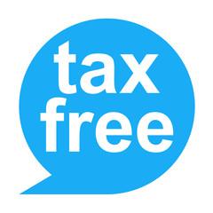 Icono texto tax free
