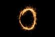 Leinwandbild Motiv circle sparkler ring