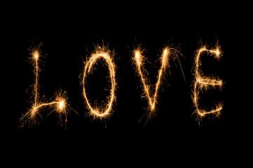 Love word sparkler