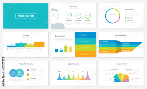 Infographic presentation slide templates and vector brochures - 80507479