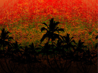 abstract background jungle