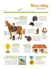 Jockey Infographics Set