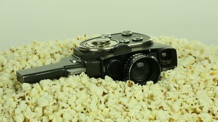 Retro camera and popcorn loop