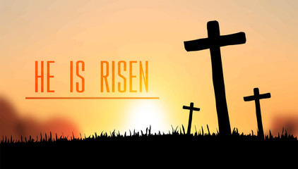 He is risen easter vector