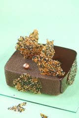 Sesame Square Entremet Cake
