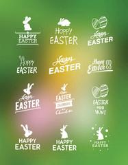 Various easter greetings vector