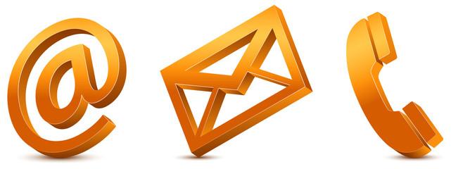 Contact Us – Orange Icons 3D