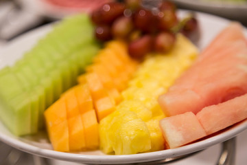 Sliced Melons with Pineapple