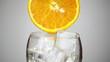 orange juice poured into a glass