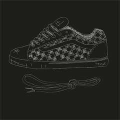 Hand drawn sneakers (gumshoes)