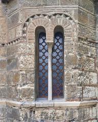 Athens, Greece, Panaghia Kapnikarea medieval church window