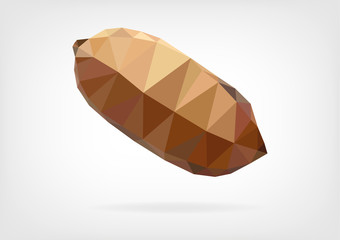 Low Poly Brazil nut