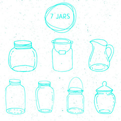 Set of mason jar objects