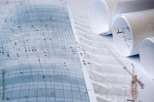 Leinwanddruck Bild Collage on a development theme