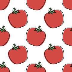 Seamless background with tomatoe