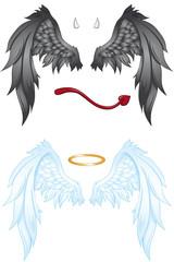 Engelskostüme Set Symbol Engel