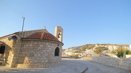 Small scenic old byzantine church